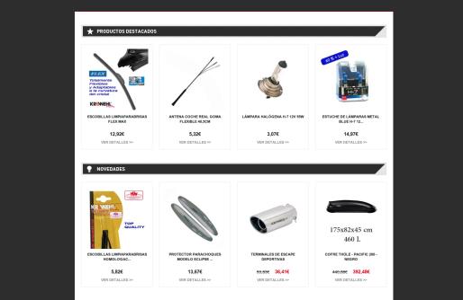 Accesorios de Coches - homepage